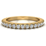 0.55 Ctw Diamond Wedding Band (G,SI) - Yellow Gold