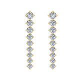 Bridal Journey Style Diamond Chandelier Earrings 18K Gold 3.52 ctw (G,VS) - Yellow Gold