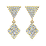 Kite Diamond Dangle Earrings 14K Gold (G,SI) - Yellow Gold