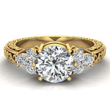 0.96 Carat Vintage Wedding Ring 14K Gold (G,I1) - Yellow Gold