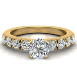 Engagement Rings for Women - Round Brilliant Diamond 18K Gold  0.70 ct GIA Certificate - Yellow Gold