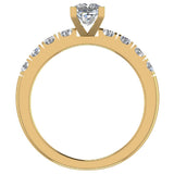 Engagement Rings for Women - Princess Cut Diamond 14K Gold  0.50 ct GIA Certificate - Yellow Gold