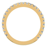 0.55 Ctw Diamond Wedding Band (I,I1) - Yellow Gold