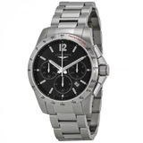 Conquest Chronograph Black Dial Stainless Steel Men's Watch L27434566