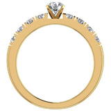 Engagement Rings for Women - Round Brilliant Diamond 18K Gold  0.50 ct GIA Certificate - Yellow Gold
