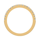 Exquisite Stacking Diamond Eternity Wedding Half Band 0.30 ctw 18K Gold (G,SI) - Yellow Gold
