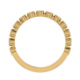 Stacking Bezel Set Milgrain Outline Round Diamond Friendversary Band 0.33 ctw 18K Gold (G,SI) - Yellow Gold