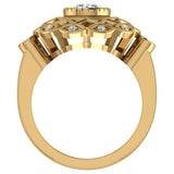 0.92 Carat Vintage Style Filigree Engagement Ring 14K Gold (I,I1) - Yellow Gold