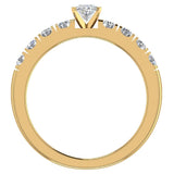 Engagement Rings for Women - Oval Cut Diamond 18K Gold  0.60 ct GIA Certificate - Yellow Gold