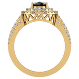 Black Diamond Engagement Rings for Women Oval Cut 14K Gold Diamond  Halo 2.65 carat (G,SI) - Yellow Gold