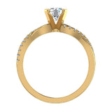 Twisting Infinity Diamond Engagement Ring 14K Gold 0.63 ctw (I,I1) - Yellow Gold