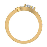 Promise Snake Love Knot Diamond Ring 14K Gold 1.00 ctw (I,I1) - Yellow Gold