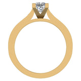 1.32 ctw Riviera Shank Princess Cut Diamond Engagement Ring 14K Gold (F,VS) - Yellow Gold