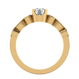 0.93 Carat Vintage Engagement Ring Settings 14K Gold (G,I1) - Yellow Gold
