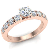 Engagement Rings for Women - Round Brilliant Diamond 18K Gold  0.50 ct GIA Certificate - Rose Gold