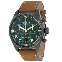 Startimer Pilot Chronograph Green Dial Men's Watch AL-372GR4FBS6