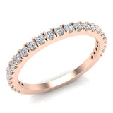 Exquisite Stacking French Pave Set Diamond Wedding Band 0.38 Ctw 14K Solid Gold (G,I1) - Rose Gold