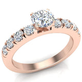 Engagement Rings for Women - Round Brilliant Diamond 18K Gold  0.70 ct GIA Certificate - Rose Gold