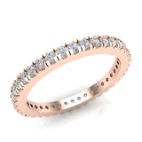 Exquisite Stacking Diamond Eternity Wedding Band 0.57 ctw 14K Gold (I,I1) - Rose Gold