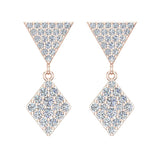 Kite Diamond Dangle Earrings 14K Gold (G,SI) - Rose Gold