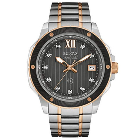 Bulova Men's Quartz Stainless Steel Dress Watch (Model: 98D127)