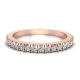 Exquisite Stacking Diamond Eternity Wedding Half Band 0.30 ctw 18K Gold (G,SI) - Rose Gold