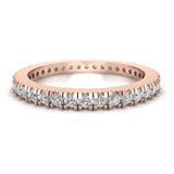 Exquisite Stacking Diamond Eternity Wedding Band 0.57 ctw 18K Gold (G,SI) - Rose Gold