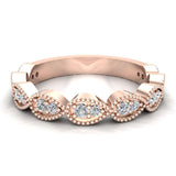 Stacking Diamond Wedding or Anniversary Band Enthralling Infinity Style Round 0.25 ctw 18K Gold (G,SI) - Rose Gold
