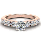 Engagement Rings for Women - Round Brilliant Diamond 14K Gold  0.50 ct GIA Certificate - Rose Gold