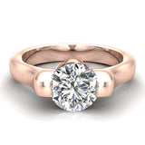 Classic Round Solitaire Diamond Engagement Ring 1.00 ctw 18K Gold (G,SI) - Rose Gold