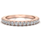 0.55 Ctw Diamond Wedding Band (G,SI) - Rose Gold