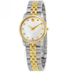 Museum Mother of Pearl Diamond Dial Ladies Watch 0606613