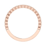Stacking Milgrain Luscious Round Diamond Wedding Band or Anniversary Band 0.53 ctw 18K Gold (G,SI) - Rose Gold