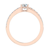 Minimalist Promise Diamond Ring 0.78 Ctw 14K Gold (G,SI) - Rose Gold