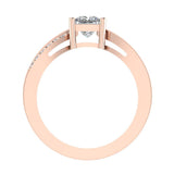 Infinity Shank Promise Diamond Ring 14K Gold 0.47 Ctw (G,SI) - Rose Gold