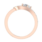 Promise Snake Love Knot Diamond Ring 14K Gold 1.00 ctw (I,I1) - Rose Gold