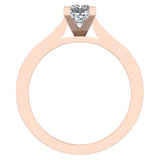 1.32 ctw Riviera Shank Princess Cut Diamond Engagement Ring 14K Gold (F,VS) - Rose Gold