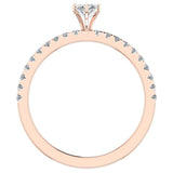 Petite Engagement rings for women Marquise Cut diamond ring 18K Gold 0.65 carat (G,SI) - Rose Gold