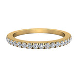 Diamond Wedding Band matching to cushion halo wedding ring set 14K Gold 0.33 carat (G,VS1) - Yellow Gold