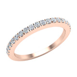 Diamond Wedding Band matching to cushion halo wedding ring set 14K Gold 0.33 carat (G,VS1) - Rose Gold