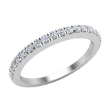 Diamond Wedding Band matching to cushion halo wedding ring set 14K Gold 0.33 carat (G,VS1) - White Gold