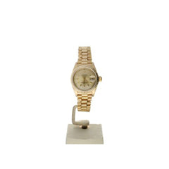 Rolex DateJust 26 Yellow-Gold 6917 Champagne Dial Womens 26-Mm Automatic Self-Wind Sapphire Crystal. Swiss Made Wrist Watch