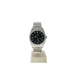Rolex Explorer Stainless-Steel 14270 Black Dial Men's 36-Mm Automatic-Self-Wind Sapphire Crystal. Swiss Made Wrist Watch