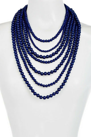 BaubleBar Bold Beaded Multi-Strand Blue Necklace