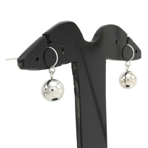 QVC Steel by Design Stainless Steel Bead Shepherd's hooks Earrings