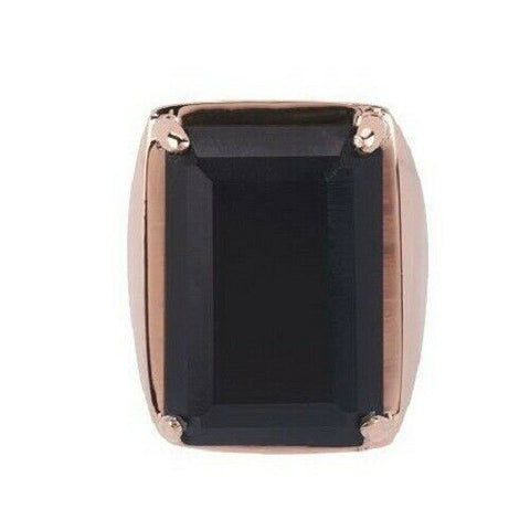 QVC Bronzo Italia Rectangular Shaped Mattee Onyx Ring Size 9