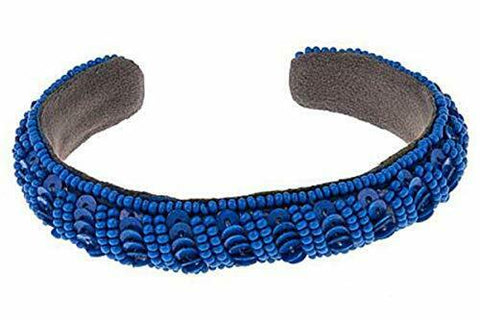 Deepa by Deepa Gurnani Bead and Sequin Cuff Bracelet - Blue
