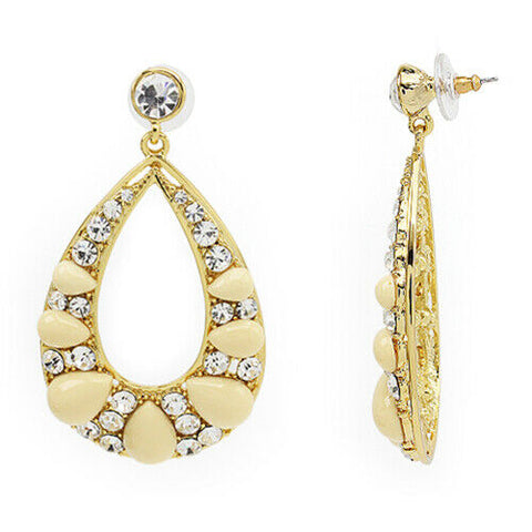 QVC Wendy Williams by Cabochon & Faceted Crystal Drop Earrings