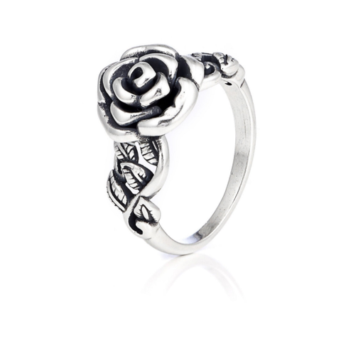 Or Paz Signature Garden Rose Ring Sterling Silver Sz-5 QVC