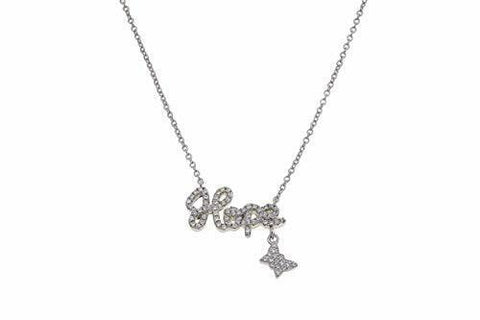 "HOU- 601472-JUN-$Joan Boyce Gwen's""Stay Inspired"" Hope White Gold Over Necklace - White Gold"